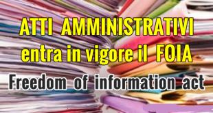 Atti amministrativi FOIA www.fragolemature.it